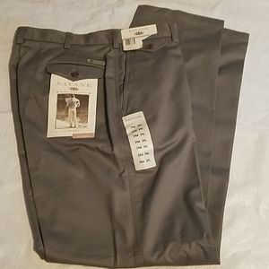Savane Olive Mens Dress Pants Sz 34 X 34 NEW